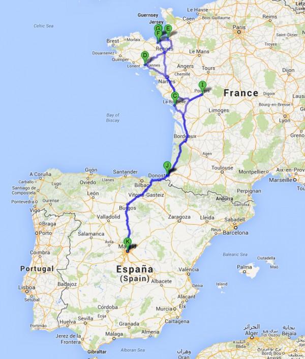 Recorrido por la Bretaña Francesa desde Madrid