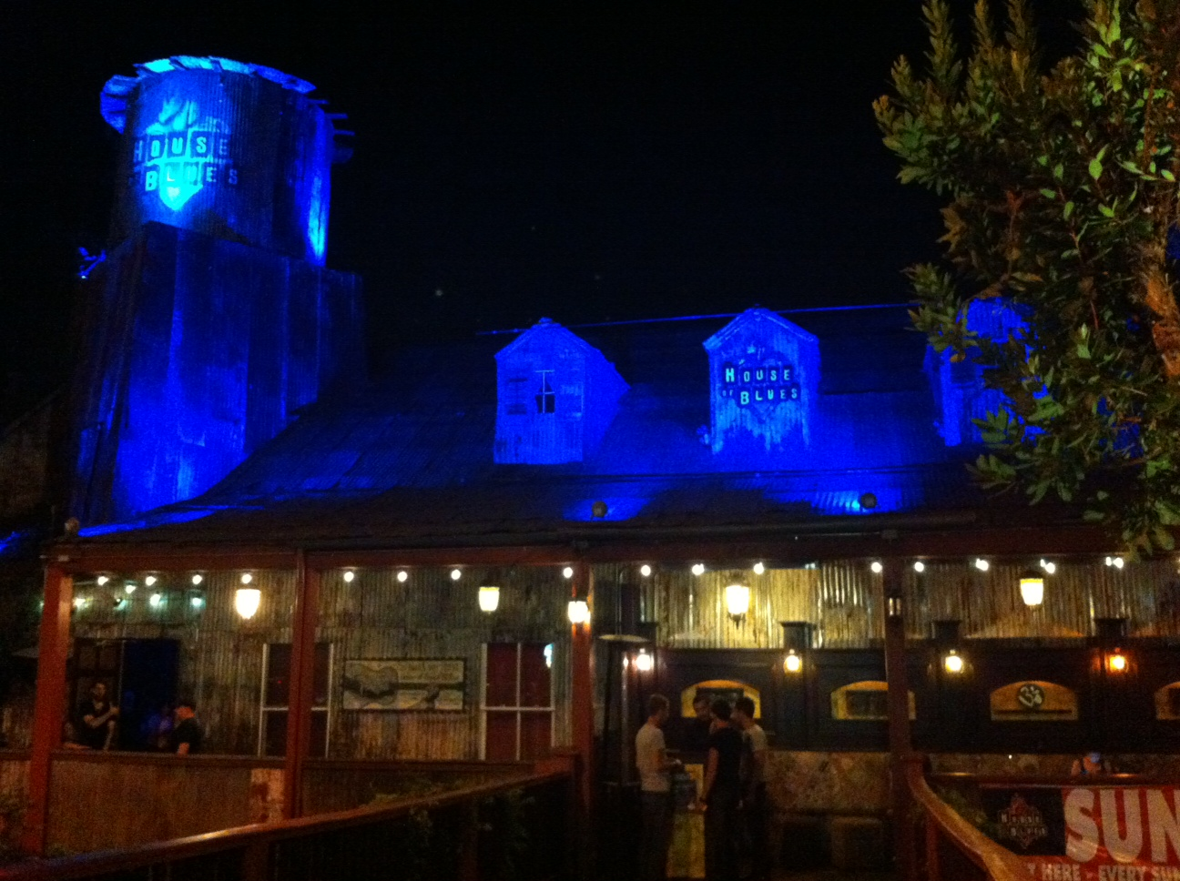 Bar House of Blues. Sunset Blvd en Los Angeles