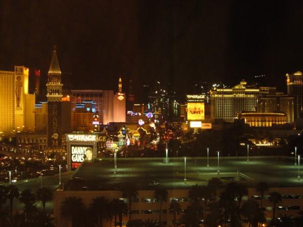 El Strip de Las Vegas por la noche