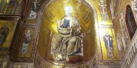 Patocrátor en la Catedral de Monreale. Sicilia