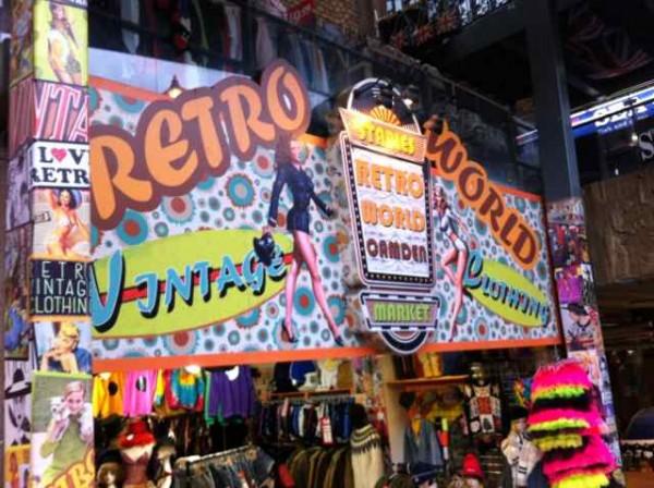 Tiendas Vintage en Camden Market. Londres