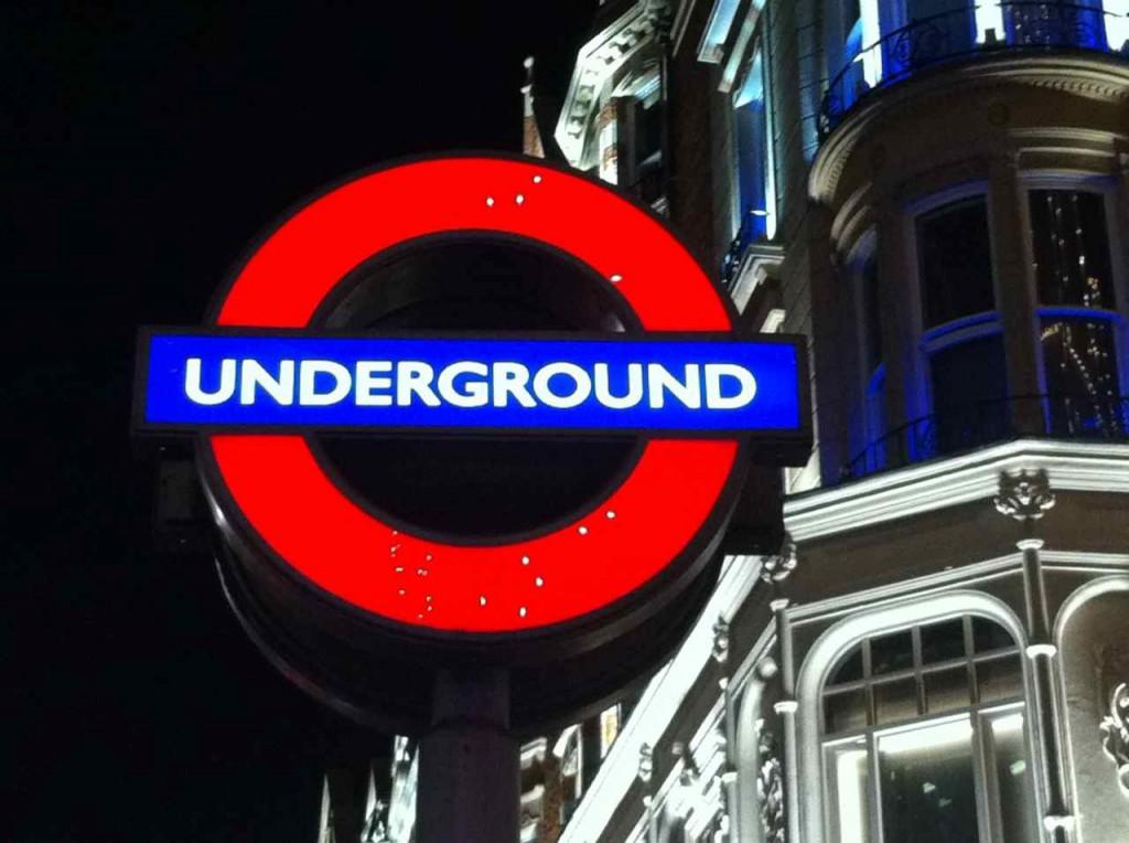 Metro de Londres en Navidad