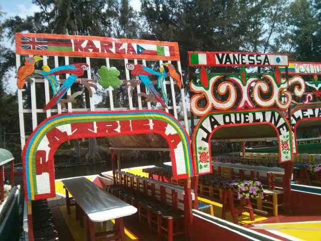 Alquiler de las trajineras en Xochimilco. México DF