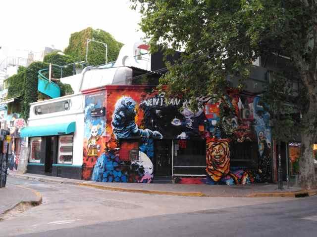 Graffiti del Barrio Palermo Soho en Buenos Aires