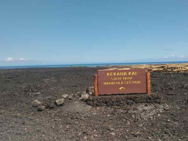 Entrada a Kekaha Kai State Park (Big Island)