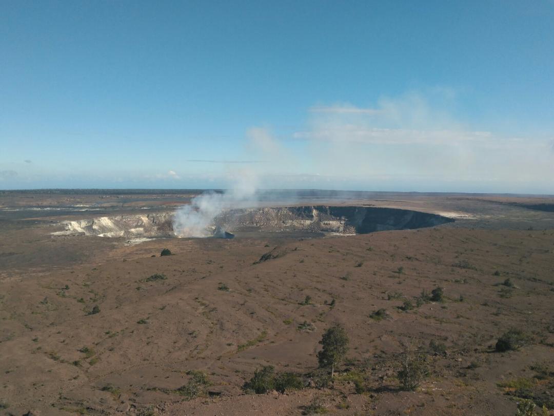 Vistas del Volcán Kilauea desde el Museo (Big Island)